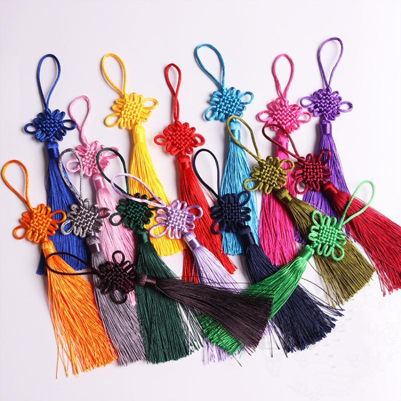 10 unids Multicolor Nudos Chinos Tassel DIY Hogar Textil Cortina Ropa Joyería Colgante Artesanía Tasseles Costura Accesorios de Joyería H JLLLQDN