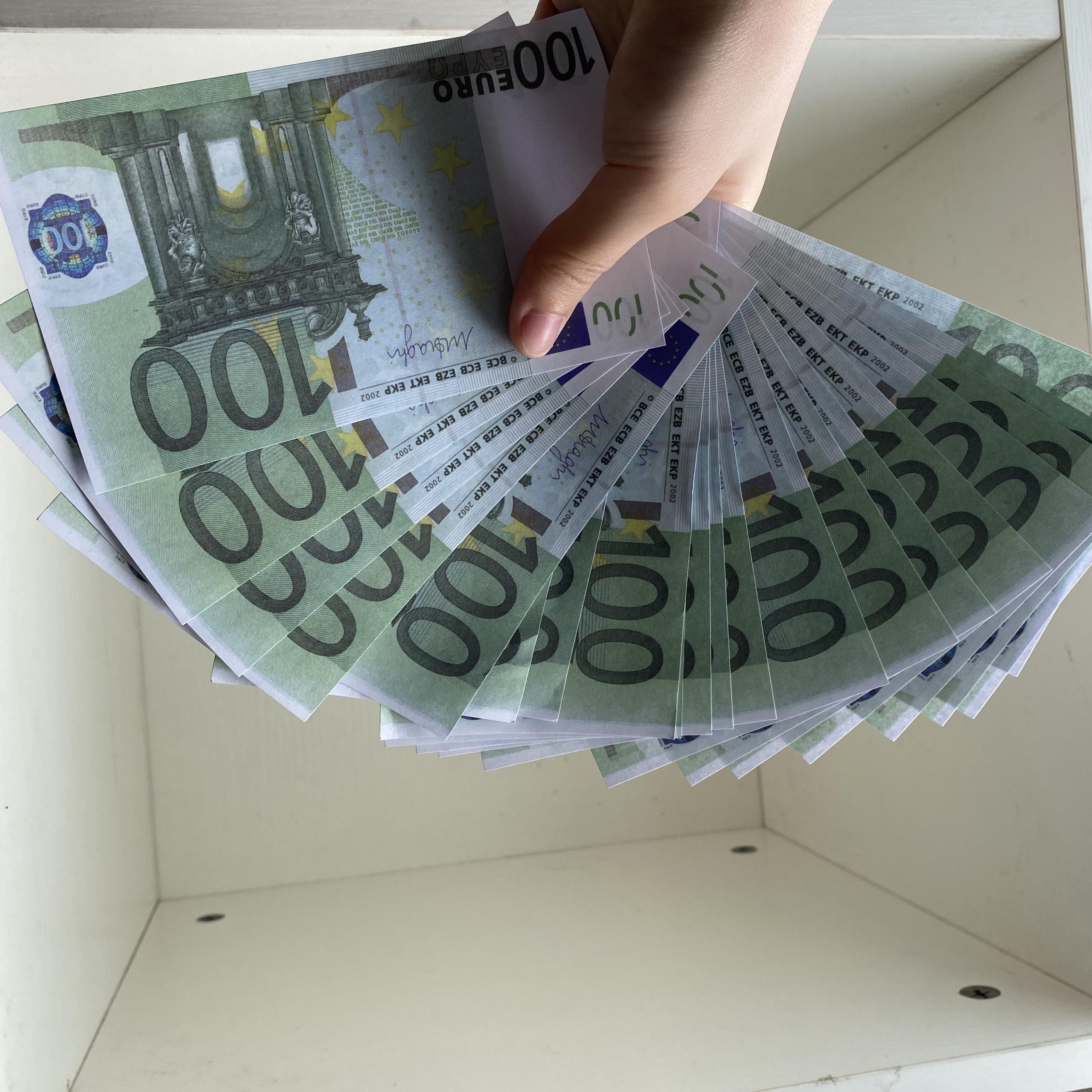Wholesale Prop money Game Copy 10 20 50 100 200 Euro dollar fake money billet Movie money faux billet euro 20 play Collection and Gifts 01