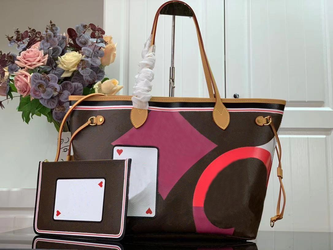 Nova CHEGAR M57452 JOGO EM MM Sacola Moda Moda Bolsas Clássicas Bolsas de Bolsa Com Bolsa Carteira Mulher Beach Bolsas Shopping Ombro Bag