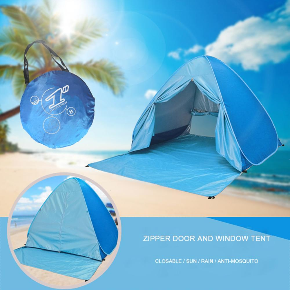 Beach Tent 165*150*110cm Pop Up Automatic Open Tent Family Ultralight Folding Tents Tourist Fish Camping Anti-UV Fully Sun Shade Z1123