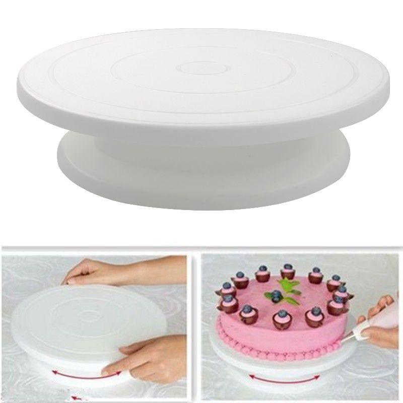 10 بوصة كعكة الدوار الدورية المضادة للانزلاق جولة كعكة حامل أدوات تزيين كعكة الروتاري الجدول المطبخ diy عموم أدوات الخبز