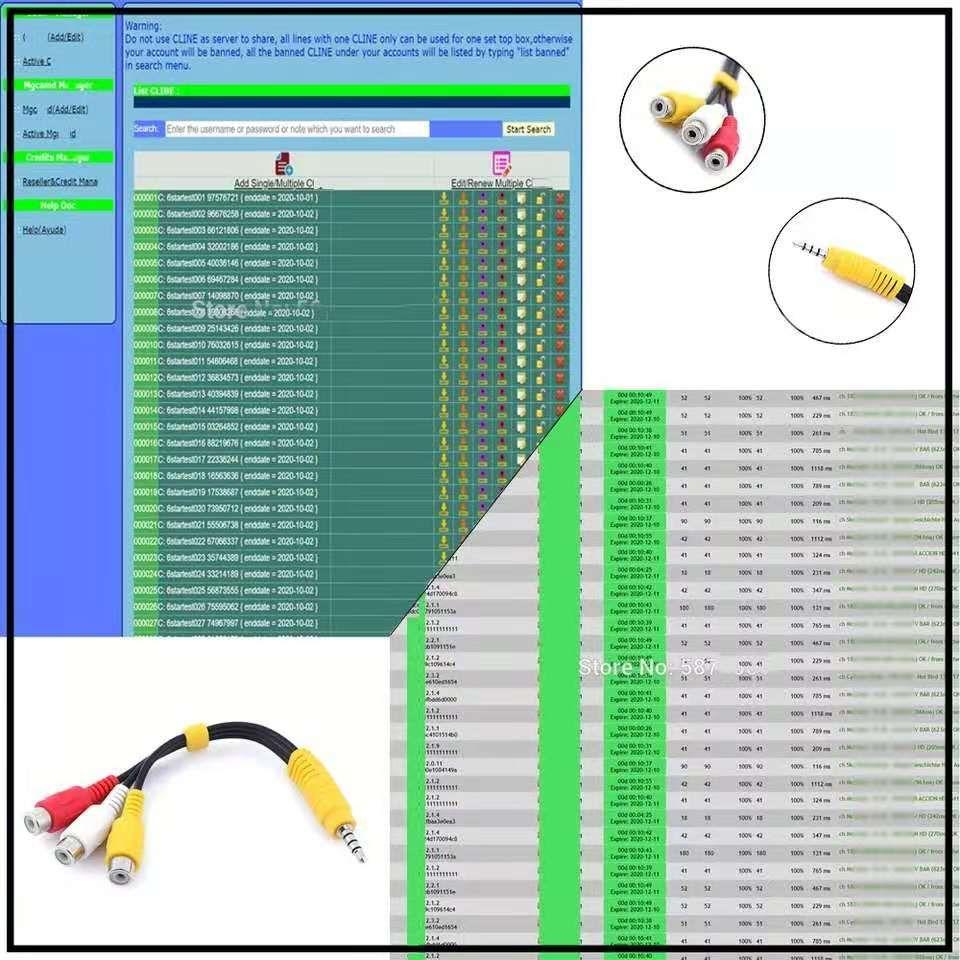 6 7 8 Line CCCAM CCCAM di 12 mesi Supporta i ricevitori satellitari DVB S2 per i clienti CCCAM in Europa e Portogallo, Italia e Polonia