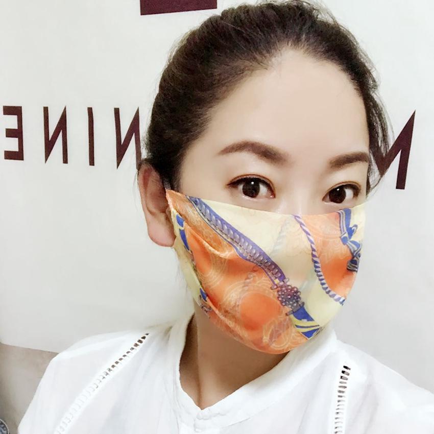 Mulheres enfrentam máscara verão gelo seda leopardo ponto imprimir máscaras protetor de sol respirável equitação Sunshade tampa ggb2564