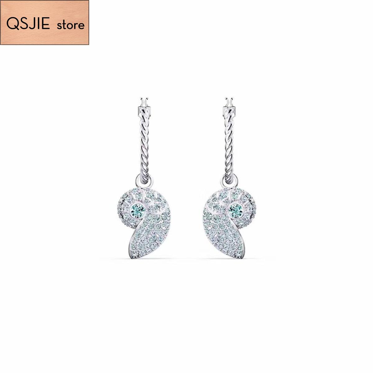 Qsjie высококачественный SWA новый стиль. Супер красивый раковину милая леди серьги очаровательные ювелирные изделия