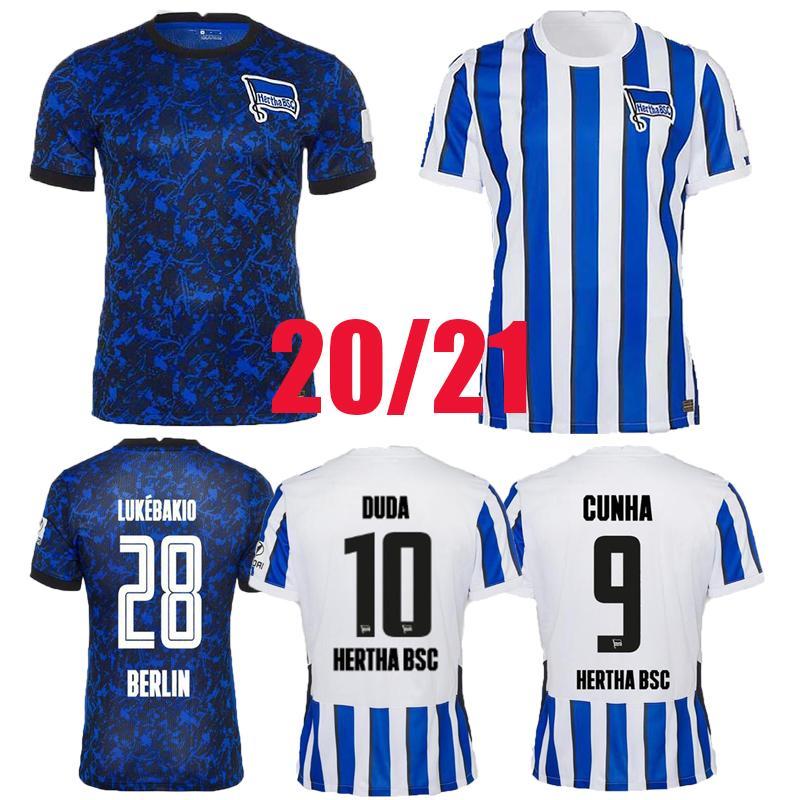 HERTHA BSC Fussball Jersey Piatek 2020 2021 Lecker Cunha Football Hemd Guendouzi Berlin Hertha Tousart Lukebakio