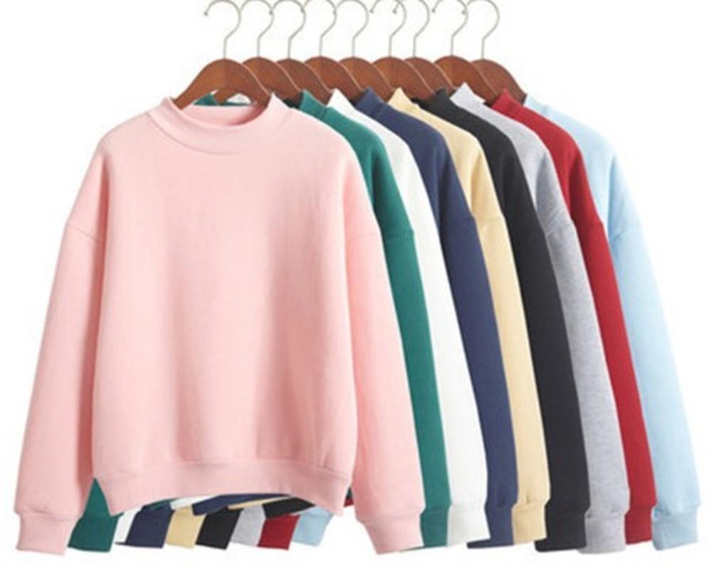Wholesale m-xxl милые женские толстовки пуловер 9 цвета осеннее пальто зима свободный флис толстая вязать толстовка женская