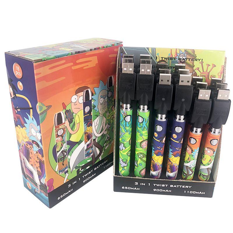 Nova Chegada Vape Cartucho Bateria Recarregável Pré-aquecimento Bateria Vape Vape Vaia Variável Tensão 3.3V-3.6V-3.9V-4.2V Vaporizador E Cig 510 Bateria