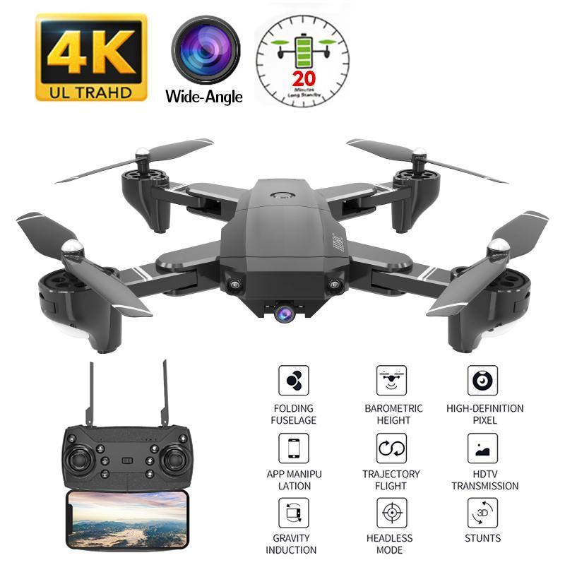 Kakbeir H13 RC 4K Drone com Wid-Angle WiFi HD Câmera Drone Profissional Gesto Foto 1080P RC Helicóptero vs LF606 E58 GD89