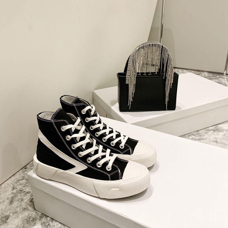 2021 Moda Donna Vulcanized Sneakers Sneakers Ladies Lace Up Scarpe Casual Scarpe Casuals Canvas Lover Shoes Flats Designer Scarpe Migliore qualità