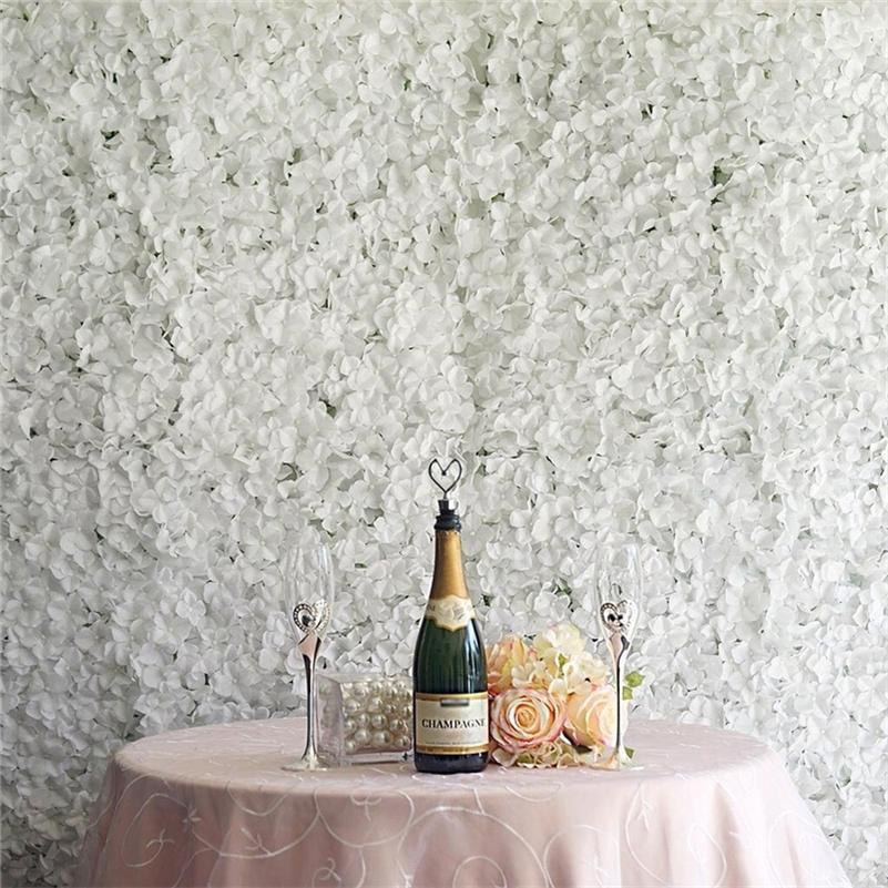 Panneaux muraux à fleurs de la soie artificielle de la soie décoration de mariage décoration de la maison décoration fausse fleur 60cmx40cm lj200910
