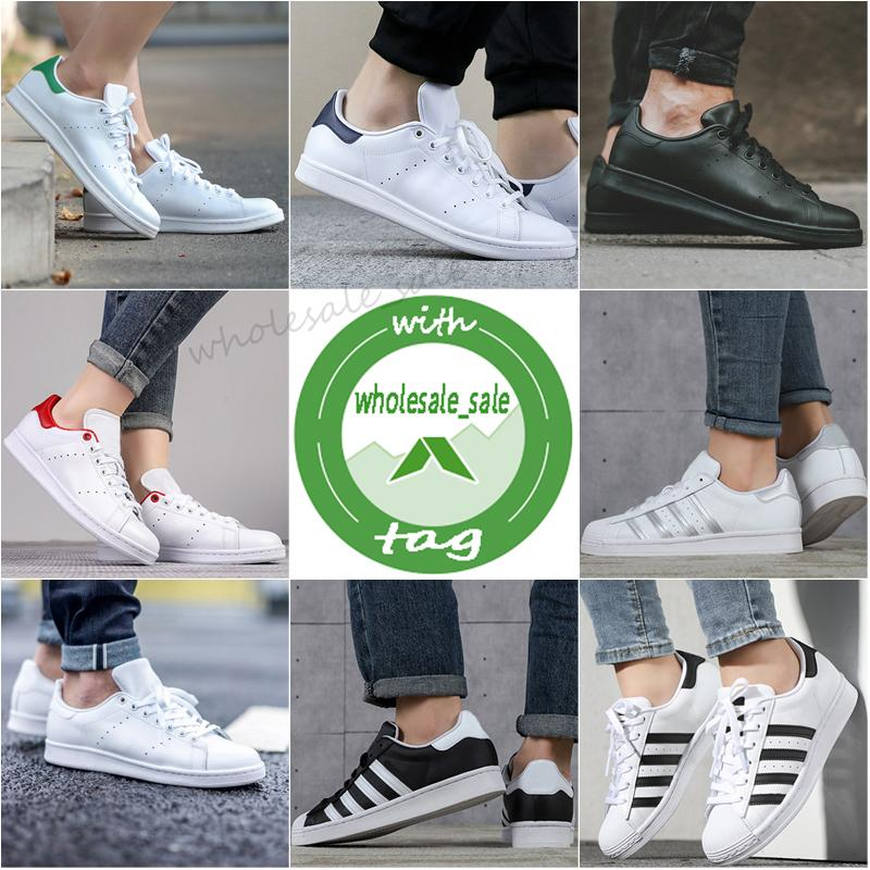 With Box Stan Smith Superstars Mens Womens Casual Shoes Tripler Black Oreo Laser Golden Platform fashion Sports Sneakers flat Trainers 36-44