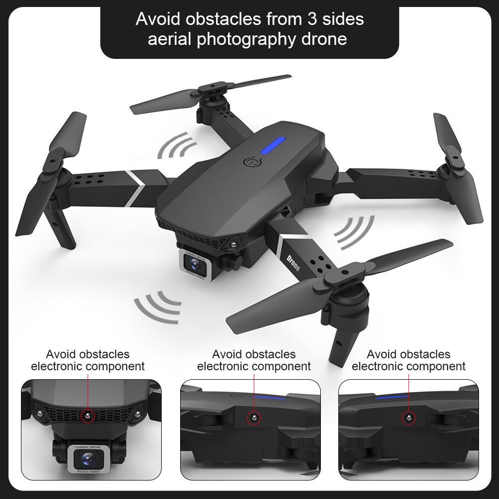 E525 PRO 4K HD Dual Camera Mini-Drohne, Auto-Hindernis-Vermeidung auf 3-seitiger Side, Track-Flug, Smart Folge, Höhenhalter, Kid Spielzeug Weihnachtsgeschenk, use