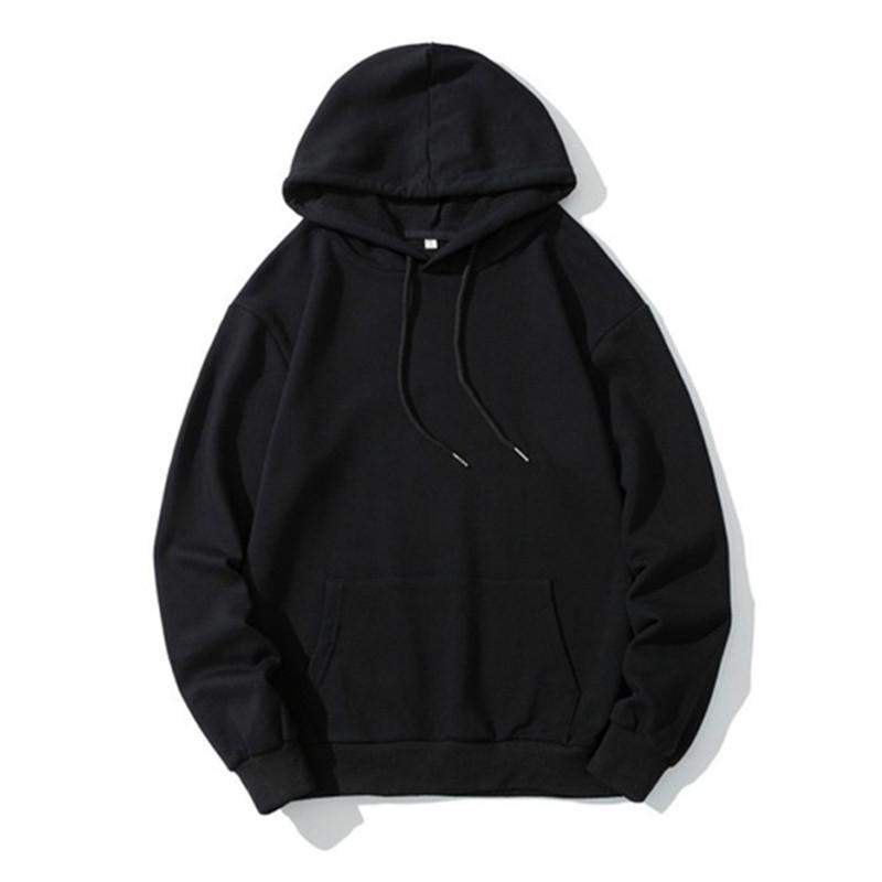 Männer Übergroße feste lose Pullover Mode Farbe Hoodies Ärmel Sweatshirt Paar Herbst Lange Sweatshirts Kapuze Winter Sodpq