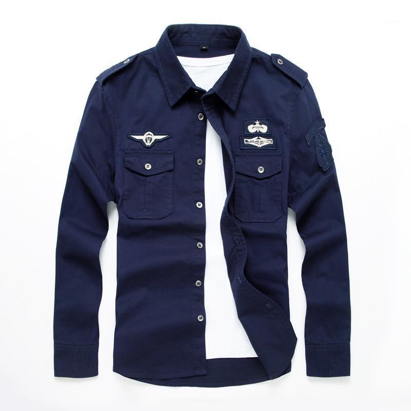Beau top Quality Hommes Hommes à manches longues Chemises en coton de fitness Tide Outwear Robe Shirts M-7XL1