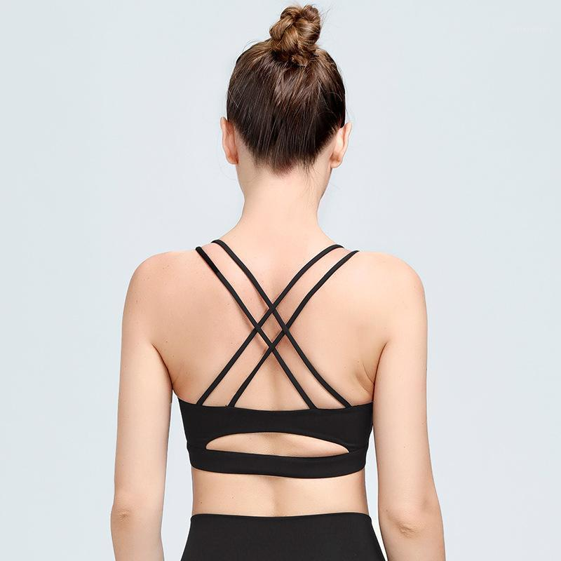 Gym Clothing Sports Underwear Women Beauty Back Shockproof No Rims Sleeveless Sexy High Elastic Yoga Top Vest Bra Female1