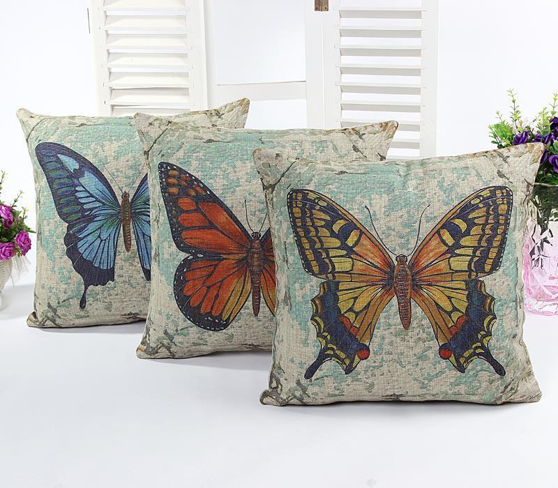 Kissenbezug Kissenbezug Schmetterling Cojines Dekorative Kissen Home Decor Coussin Sofa Dekokissen Capa de Almofada