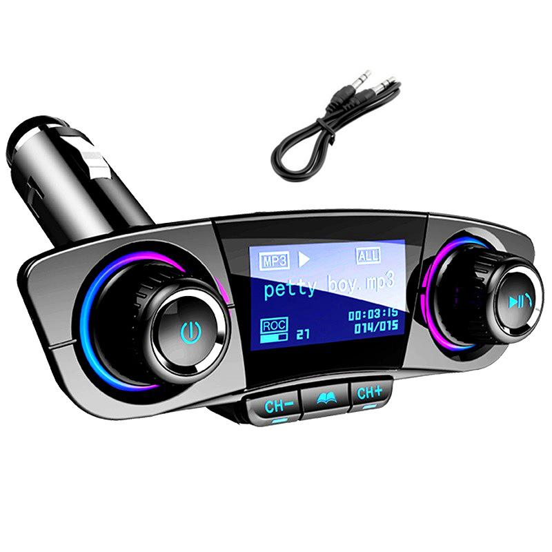 BT06 FM Transmitter 2.1A Fast Car Charger Aux Modulator Bluetooth Handsfree Kit Audio MP3 Player with Smart Charge Dual USB