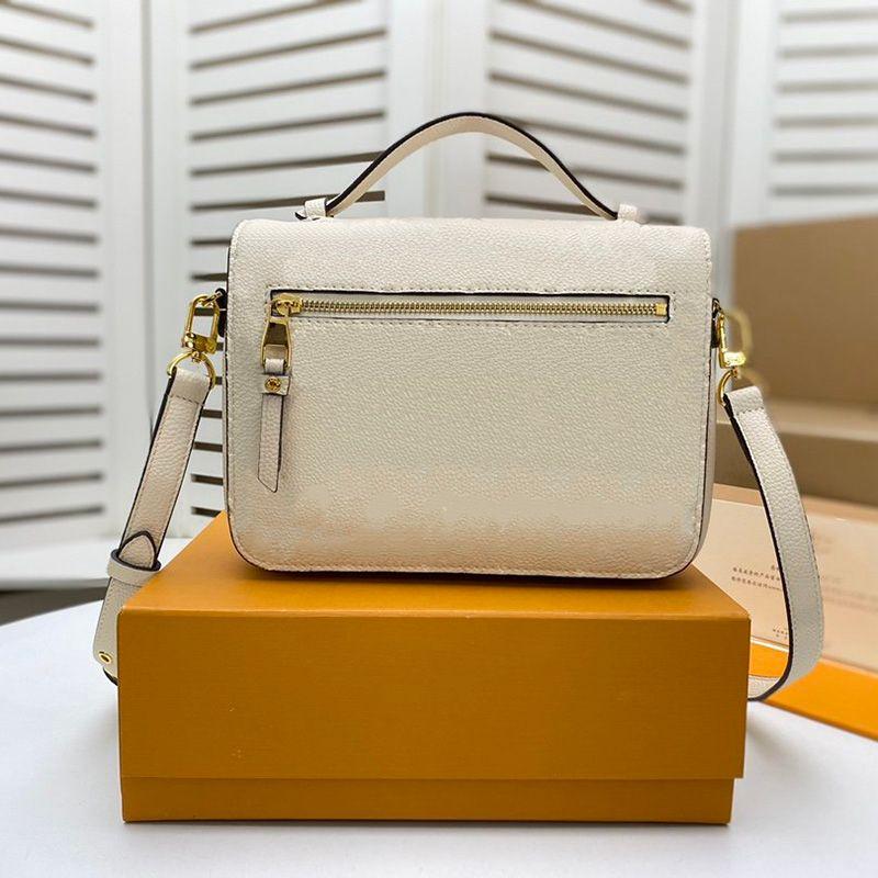 Saca senhora mulheres ombro preto métis sacos coceteta luxurys bolsa de bolsa de couro de couro branco gravado com crossbody sacos designers jldd