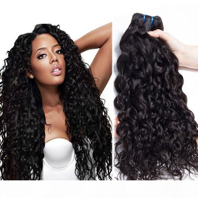 Необработанные бразильские человеческие Remy Remy Revic Hair Natural Wave Pair Weaves Extensions Натуральный цвет 100 г Усадка Двойная Wefts 3