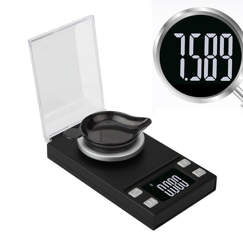 0.001g Portable Jewelry Scale LCD Mini Electronic Digital Scales Pocket Scale Kitchen Jewelry Weight Balance Digital Scale GWA3953