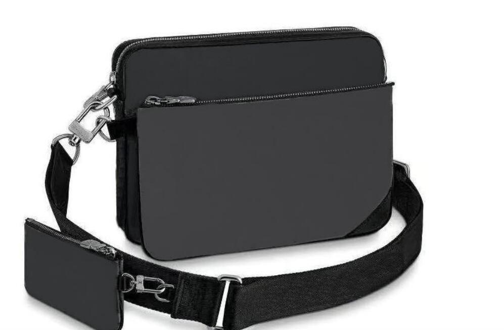 الرجال M69443 الأعمال حقيبة الكتف 3 قطعة / المجموعة حقائب حقائب الأزياء الكتف للانفصال حقيبة crossbody رسول تريو حقيبة