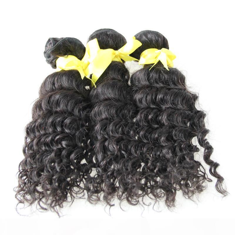 Pacotes de cabelo de Remy de onda profunda 300g cabelo virgem brasileiro 3 pacotes cor natural 3 pcs extensões de cabelo humano