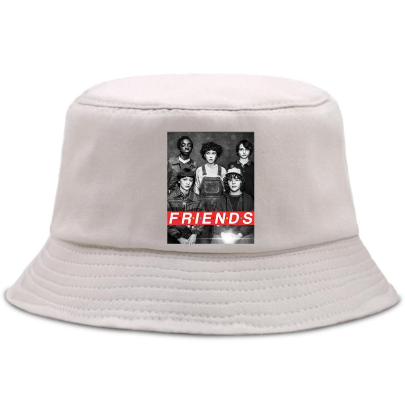 Friends Strangers Things Fisherman's Hats Casual Foldable Panama Caps Summer Cotton Bucket Hat Outdoor Sunscreen Street Sun Cap