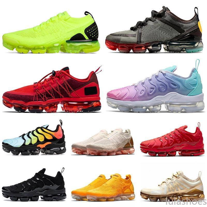 2021 TN Artı Boyutu Ayakkabı ABD 13 Run Utility CPFM Mens Bayan Moc Fly Örgü Koşu Eğitmenler Açık Havada Spor Sneakers EUR 47