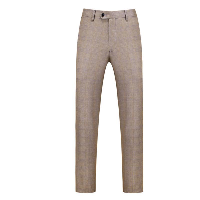 Taglia 6XL 2021 Boutique Fashion Lattice Leggero Mens Casual Business Suit Pantaloni Slim Sposo Abito da sposa Formale Pantaloni maschili