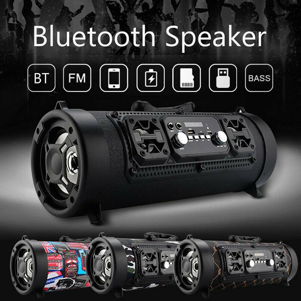 Haut-parleur Bluetooth sans fil Portable extérieur avec ceinture épaule Stéréo Soundbar Batterie Musique Musique Radio FM / USB / TF Haut-parleur LJ201027