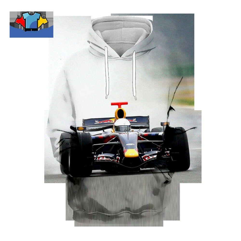 Uomo Donna Formula 1 Fashion Casual 3D Stampato Felpa con cappuccio Sport Athletic F1 Racing Pullover Giacca con cappuccio