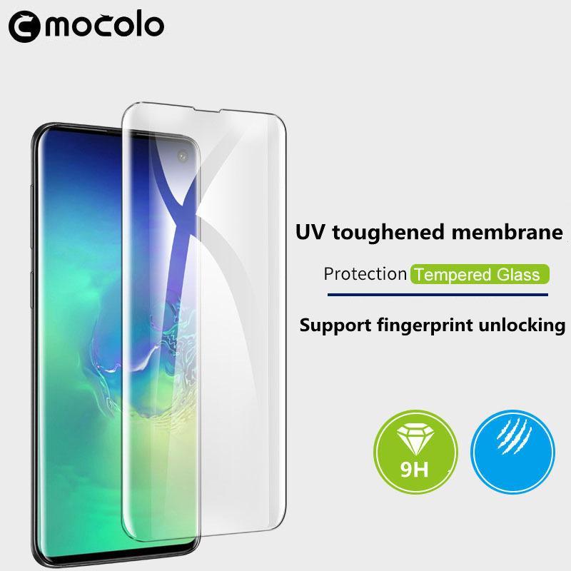 Новая нота Samsung Ultra Glass Phone Pline Galaxy S20 Закаленные УФ Mocolo S10 PRO 10 9 Полная мобильная клея Жидкость для защиты 20 ADRHX