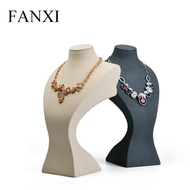 FANXI Resina Retrato Collar Pantalla Busto Soporte Colgante con Microfibra Joyas Pantalla Props Organizador para Showcase