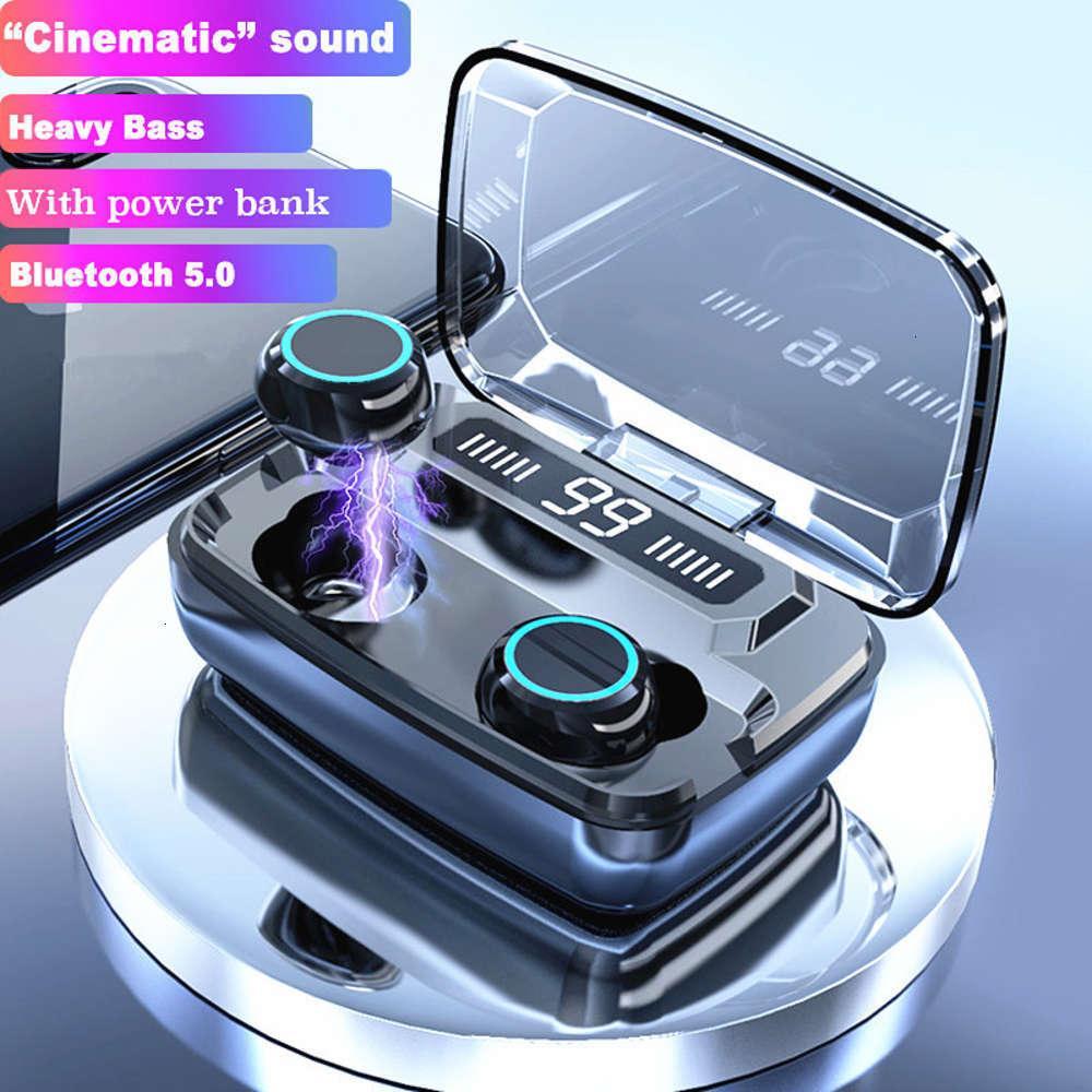 TWS Wireless наушники Bluetooth наушники Bluetooth 5.0 беспроводные Bluetooth наушники светодиодные дисплеи с микрофонарубленными наушниками наушников
