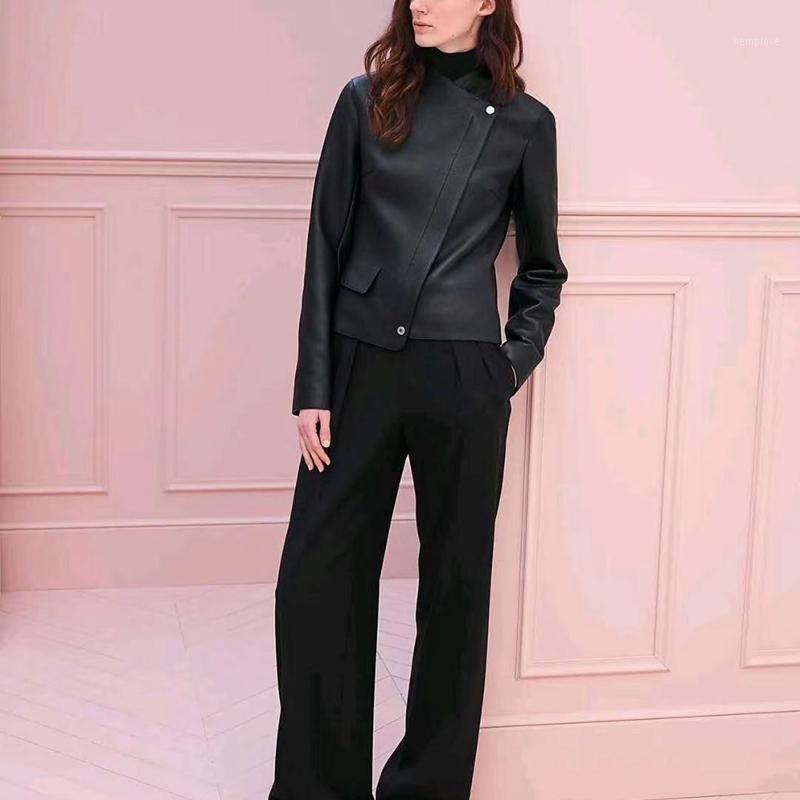 Frauen Mäntel Natürliches Echtes Leder 2020 Neue Mode Autunm Winter Dame 100% Schaffelljacken Hohe Qualität H8091
