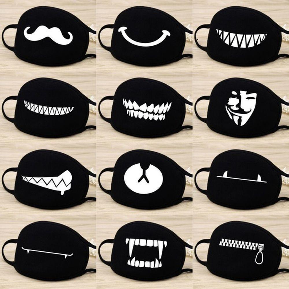 Фабрика 1PC Unisex Хлопок Многоразовые маски для лица Крышка респиратор анти пыль мультфильм рот