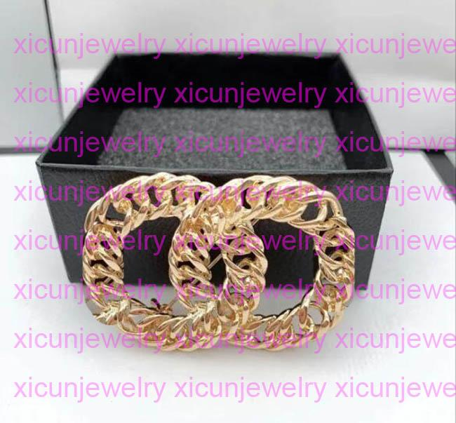 Canal charmes strass de haute qualité Open As Lettre Broches Broches Pin Pearl Pin Mode Bijoux Top Cristal Designer Broche