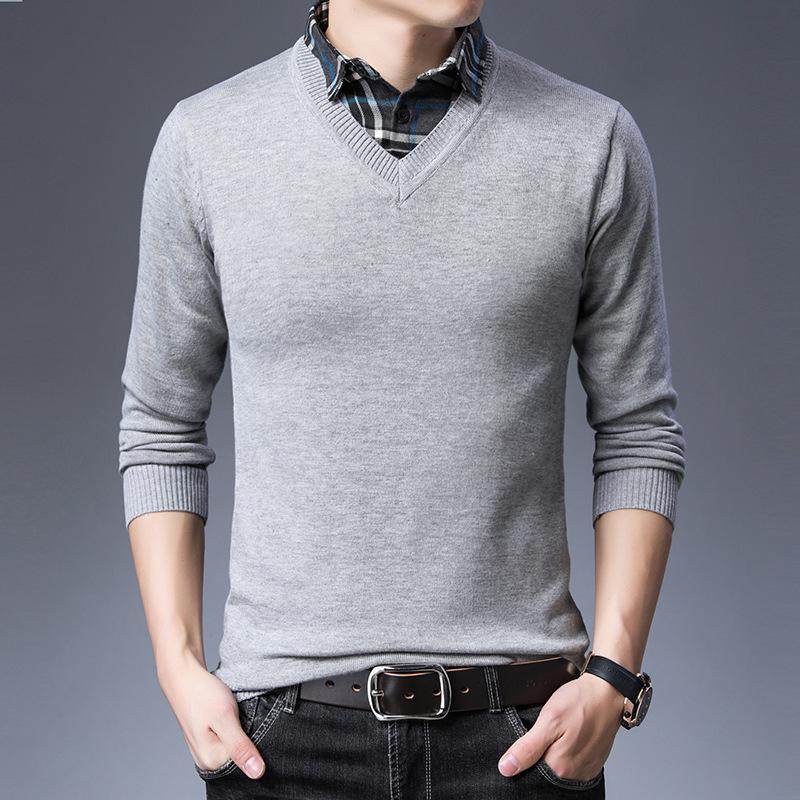 Дешевые оптом 2019 новая осень зима горячая распродажа мужская мода повседневная теплый хороший свитер mp538