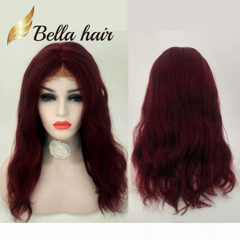 Festival de Navidad Color rojo Color Chino Peluca de cabello humano Largo Natural Recto Mano Atado Hermosa Peluca de Encaje Completa Juliolvina Bella Customi