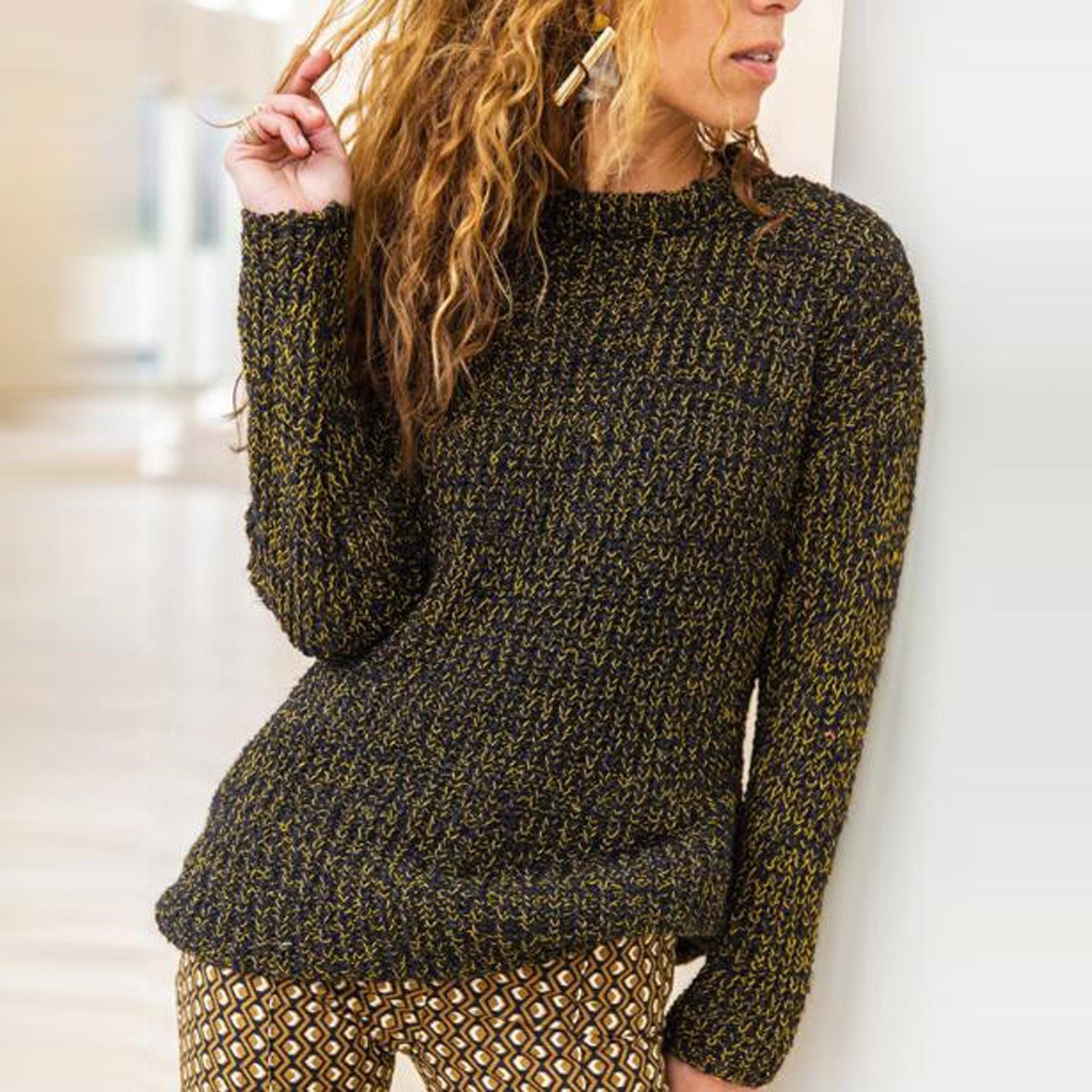 Универсальные свитеры женские сплошные цветные пуловер круглые не теплые с длинным рукавом свитер Vestido Mujer Otono Invierno 2020
