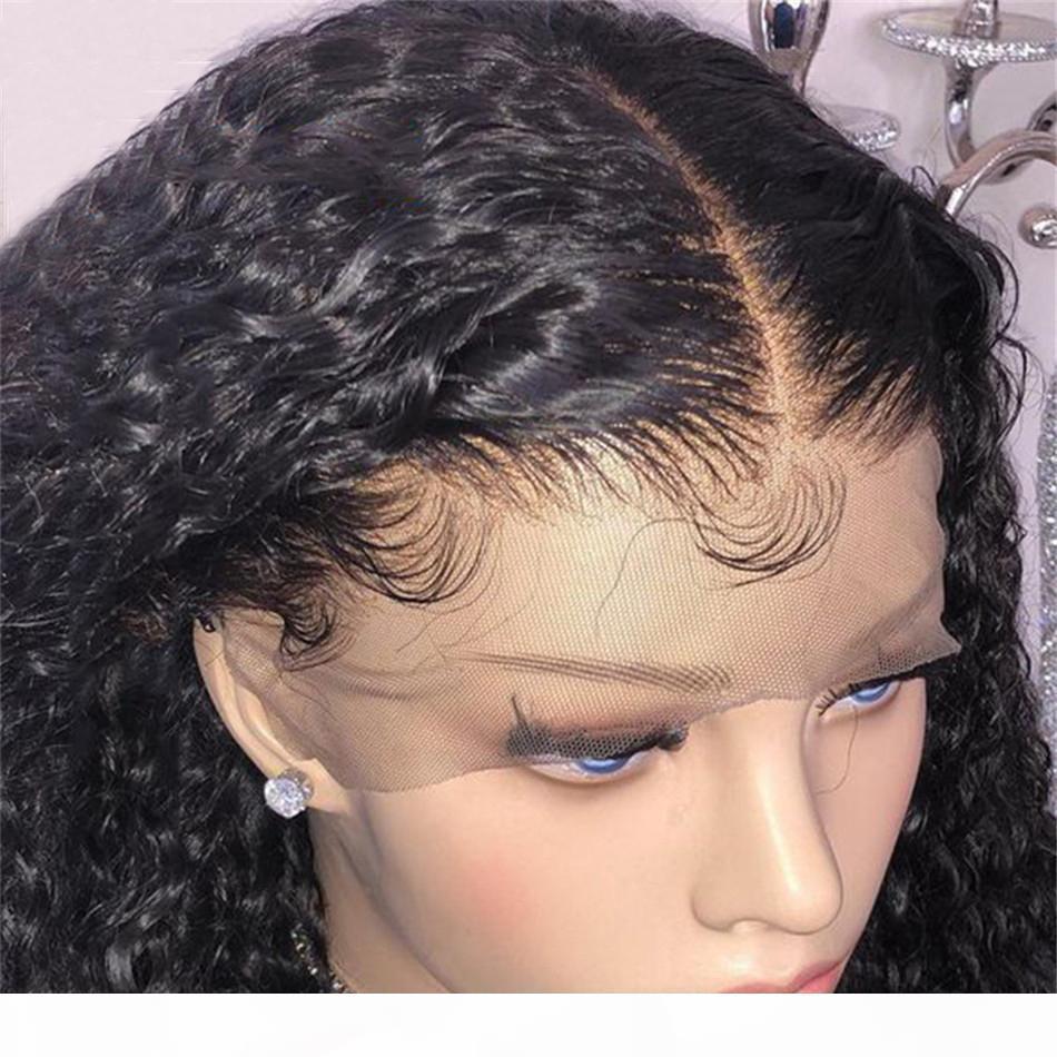 Curl WIG 13x4 кружева фронт парик бразильский ремешок парики кудрявые человеческие волосы парик 130 плотность кружева передние волосы волос