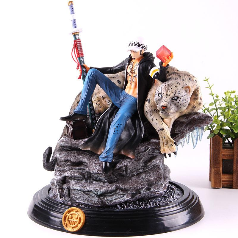 Anime One Piece Figure Trafalgar D Lois Water GK Statue One Piece Trafalgar Law One Piece Action Figure PVC Modèle de collection T200321
