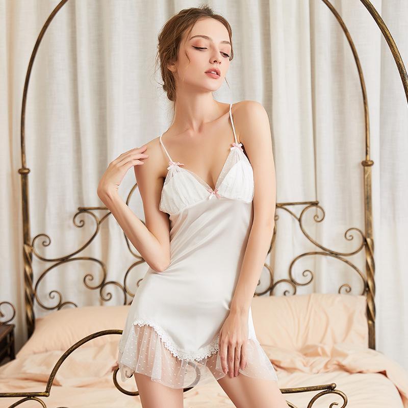Wholesale sexy underwear sexy nightdress perspectiva mulheres tentação de malha de laço aberta pijama de suspender