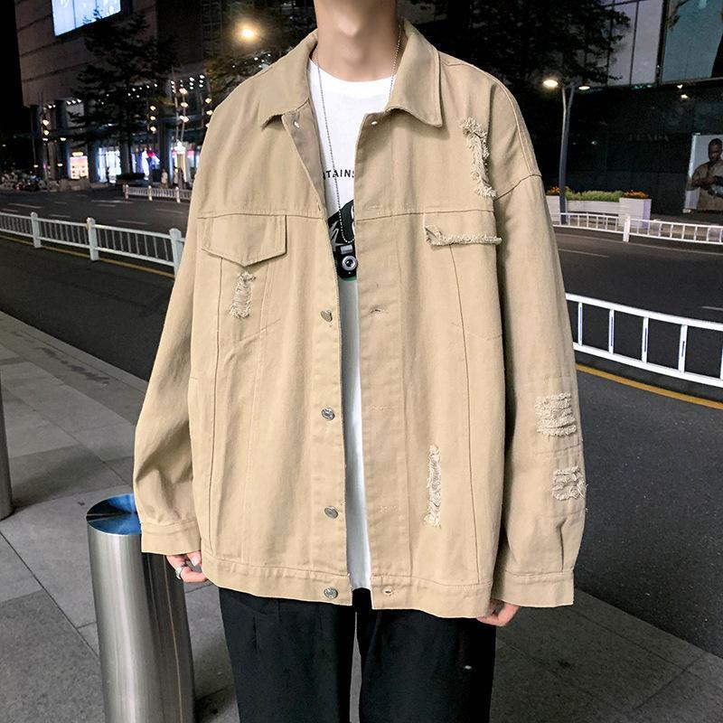 Printemps et automne Denim Nouveau Coréen Mode Ruffian Belle Veste pour hommes polyvalents