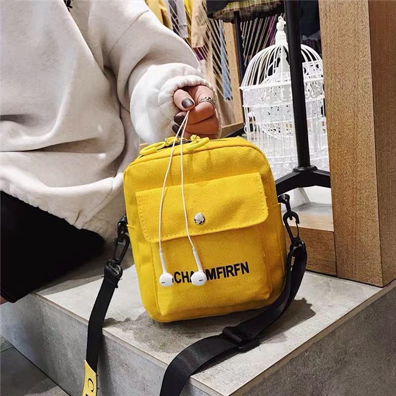 Para bolsas mensageiro de lona SAC Messenger Feminino Fashion Tote Color Ombro Pure Outdoor Bag Bolsa Casual Mulheres Mulheres Zipper Saco Ekqsp