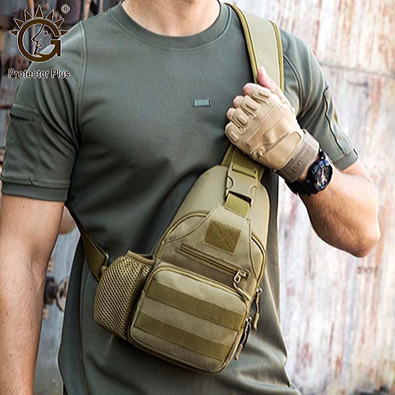 Bolso táctico para hombres, bolso de pecho de Molle con USB, mochila al aire libre impermeable, bolsas de escalada deportiva de caza1