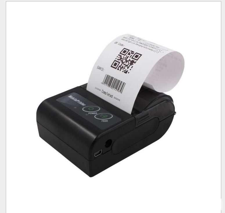 Imprimante Portable Imprimante Bluetooth 58mm Porte-billets thermiques