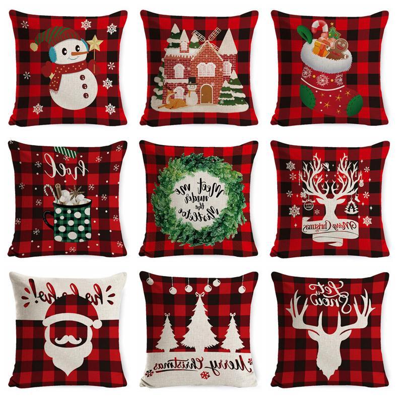 Kissenbezüge Leinen Weihnachten Dekokissen Fall Platz Sofa Dekorative Kissen Kissenbezug Weihnachten Pillowcase Home Decor
