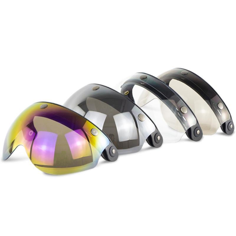 vasos W 3 Snap 3/4 Casco escudo con tirón encima de la bisagra de la vendimia DE TORC T50 cascos de motocicleta