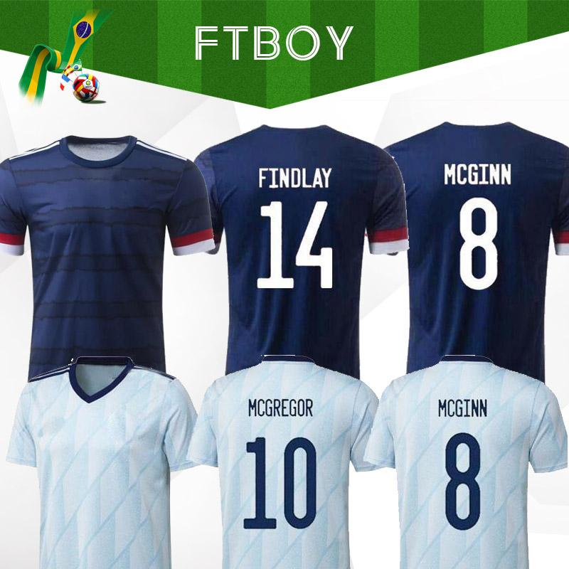 Nova Escócia Futebol Jerseys Home 2020 2021 Away Robertson Fraser Camisa de Futebol Naismith McGregor Christie Forrest McGinn Men Kids